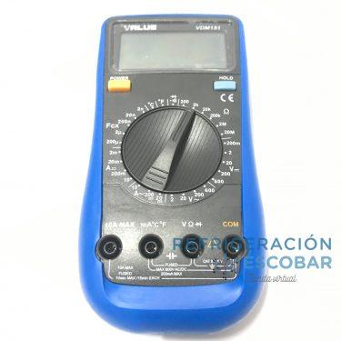 TESTER VALUE MULTIMETRO/CAPACIMETRO/TERMOMETRO VDM151